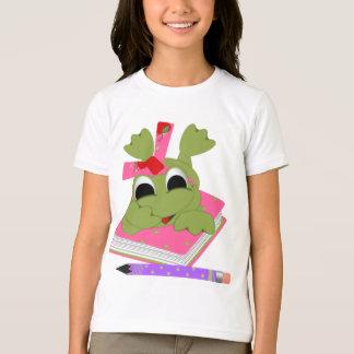 Leap Into School Girls Ringer T-Shirt