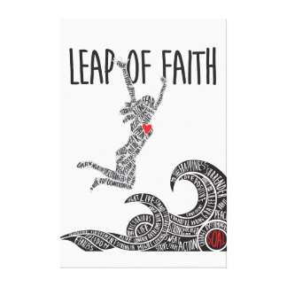 Leap of Faith Canvas With Woman Leaping Jumping