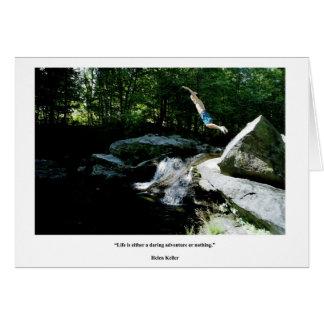 Leap of Faith - Daring Adventure Quote, H Keller Card