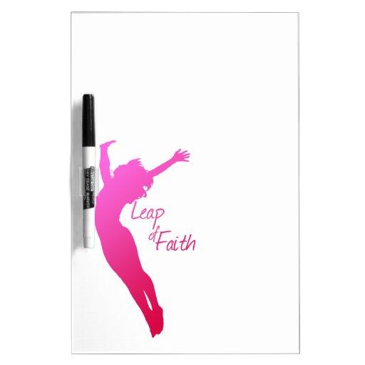 Leap of Faith Dry Erase Whiteboard