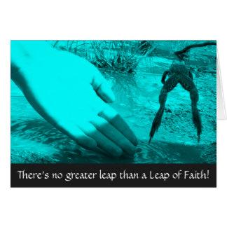 Leap of Faith Encouraging Card