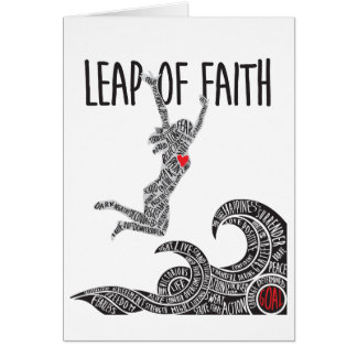 Leap of Faith Greeting Card Woman Jumping Leaping