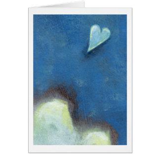 Leap of faith heart Late at Night fun original art Card