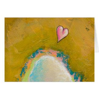 Leap of faith little heart hopeful art painting card