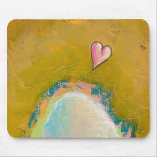 Leap of faith little heart hopeful art painting mousepads