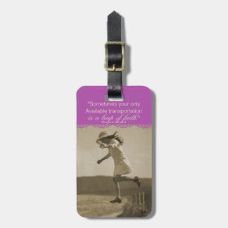 Leap of Faith Luggage Tag