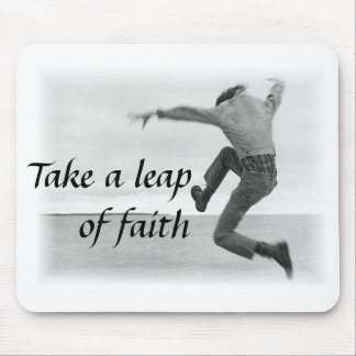 Leap of Faith Mousepad