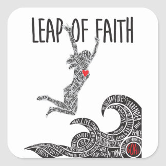 Leap of Faith Sticker Woman Jumping Leaping