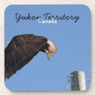 Leap of Faith; Yukon Territory Souvenir Beverage Coaster