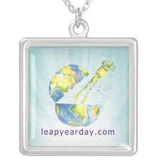 Leap Out Leap Day Baby! Square Pendant Necklace
