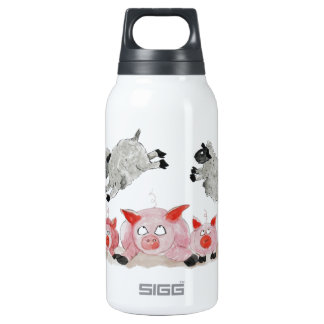 Leap Pig by Suffolk Sheep Insulated Water Bottle