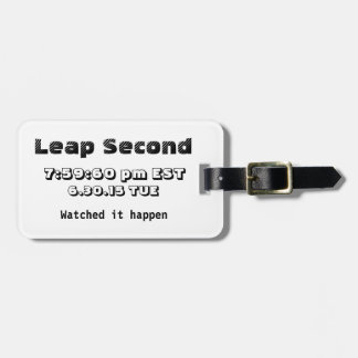 Leap second 2015 Custom Luggage Tag