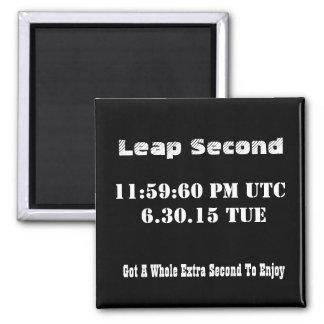 Leap Second 2015 Custom Magnet