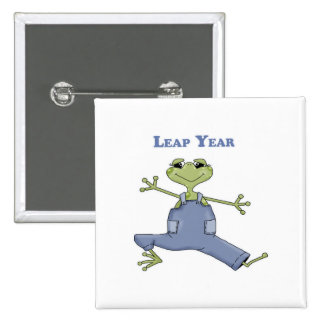 Leap Year 2 Inch Square Button