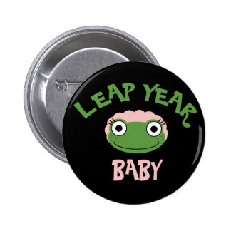 Leap Year Baby Pinback Buttons