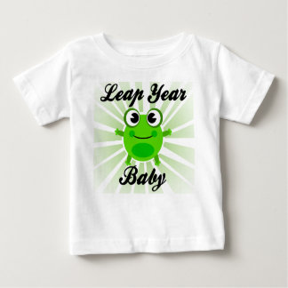 Leap Year Baby, Cute Green Frog Baby T-Shirt