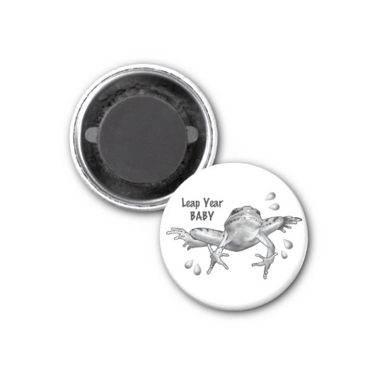 Leap Year Baby: Leaping Frog in Pencil Magnet