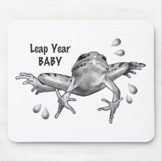 Leap Year Baby: Leaping Frog in Pencil Mouse Pad