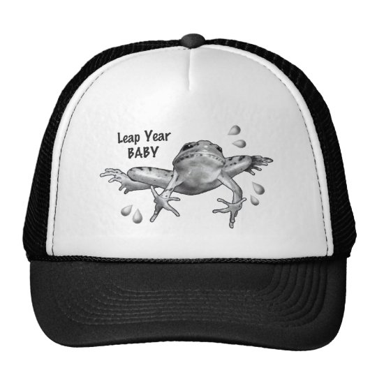 Leap Year Baby: Leaping Frog in Pencil Trucker Hat