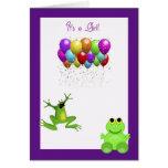 Leap Year Birth Announcement Greeting Card