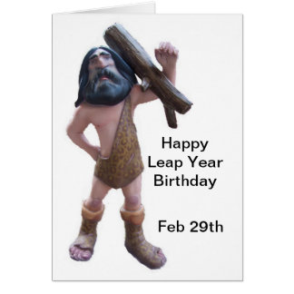 Leap Year Birthday Card