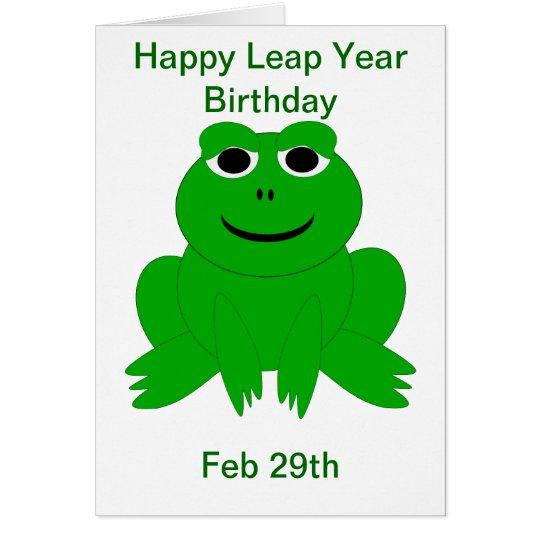 Leap Year Birthday Card Zazzlecom