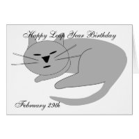 Muir Rambles Birthday Cards for February 29th