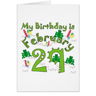 Leap Year Birthday Cards Invitations Greeting Photo Cards