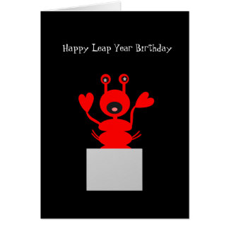 Leap Year Birthday card Lobster