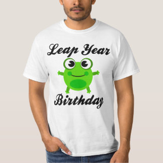 Leap Year Birthday, Cute Frog T-Shirt