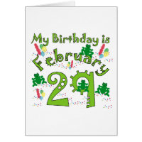 Leap Year Birthday Greeting Card