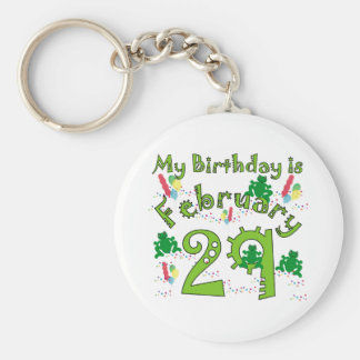 Leap Year Birthday Keychain