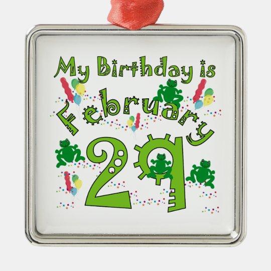 Leap Year Birthday Metal Ornament