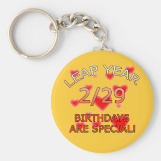 Leap Year Birthdays Are Special! Keychain