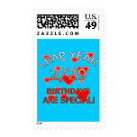 Leap Year Birthdays Are Special! Stamp