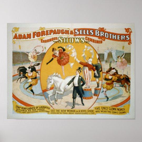Leap Year Ladies / Clown Women Circus Poster