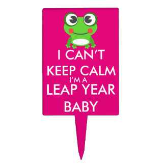 Leap Year/ Leap Day Baby Cake Pick
