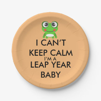 Leap Year/ Leap Day Baby Paper Plates