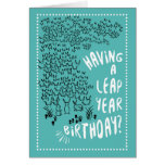 Leap Year Rabbits Birthday Greeting Card