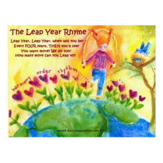 LEAP YEAR RHYME POSTCARD