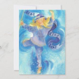 Leap Year Ribbon Dancer Holiday Card