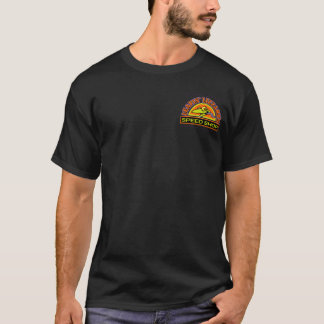 Leapin' Lizzard Speed Shop on Black T-Shirt