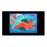 Leaping Animals, a Fox and a Hare. Double-Sided Standard Business Cards (Pack Of 100)