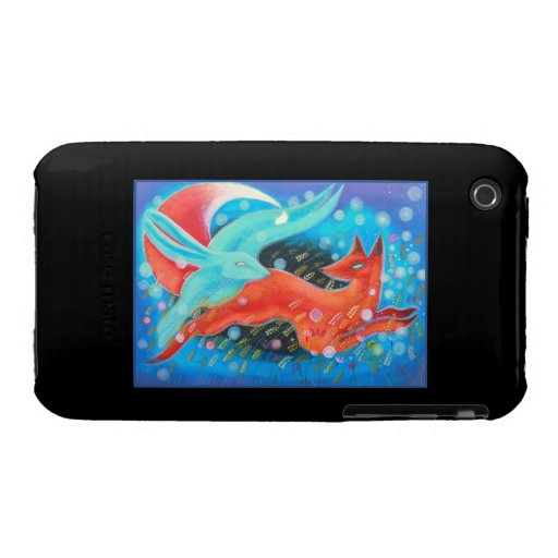 Leaping Animals, a Fox and a Hare. Case-Mate iPhone 3 Case