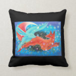 Leaping Animals, a Fox and a Hare. Pillows