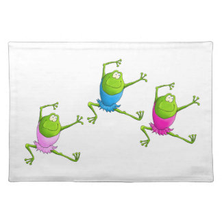 Leaping Ballerina Frogs Placemat