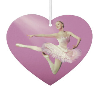 Leaping Ballerina in Pink and White