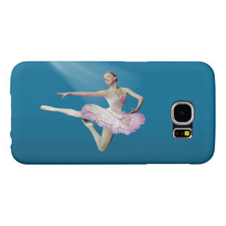 Leaping Ballerina in Pink and White Samsung Galaxy S6 Case