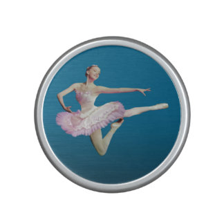 Leaping Ballerina in Pink and White Speaker
