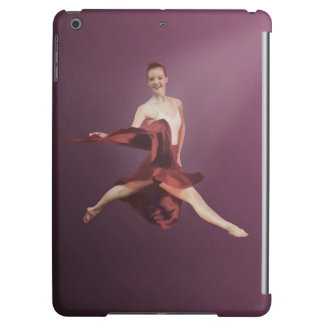 Leaping Ballerina in Red and Lavender iPad Air Case